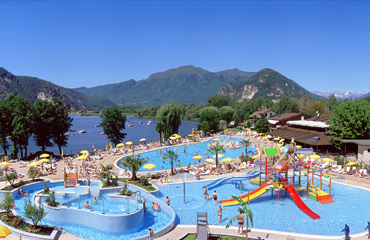 Isolino Camping Village, Lake Maggiore,Italian Lakes,Italy